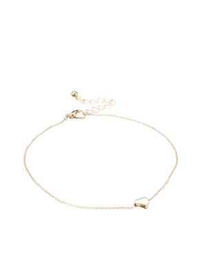 ASOS | ASOS Pack of Two Fine Heart Anklet & Toe Ring at ASOS