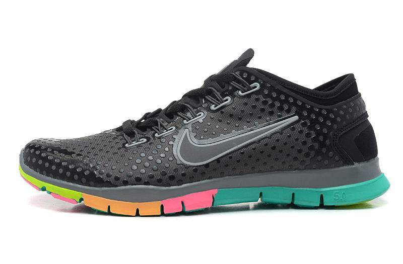 Cheap Womens Nike Free 5.0 Trainer Black Pink Yellow Green - Cheap Nike Free  Run,Nike Free ...
