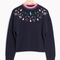 & other stories | stone embellished sweater | blue