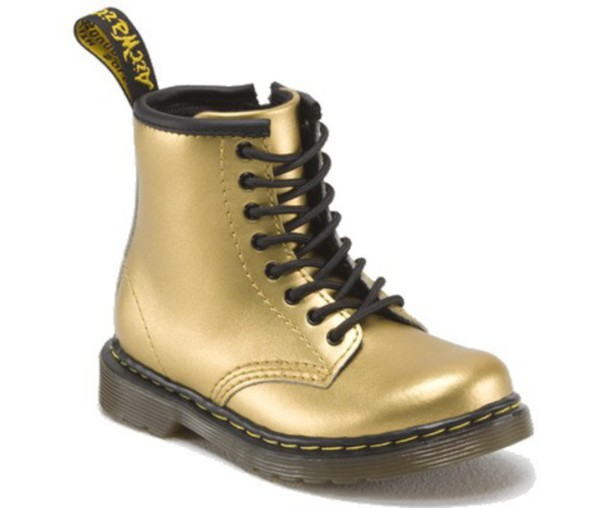 shoes gold boot