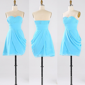 dress prom prom dress blue blue dress sky blue mini mini dress short short dress party fabulous gorgeous beautiful pretty love lovely fashion trendy girly style stylish ashionista cute cute dress vogue cool wow amazing sweet sweetheart dress strapless strapless dress special occasion dress