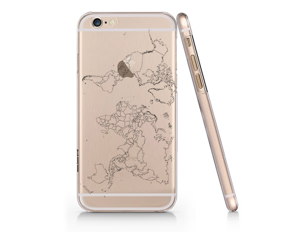 Iphone 6 World Map Case.Amazon Com World Map Custom Cover Iphone 6 6s Full Protection