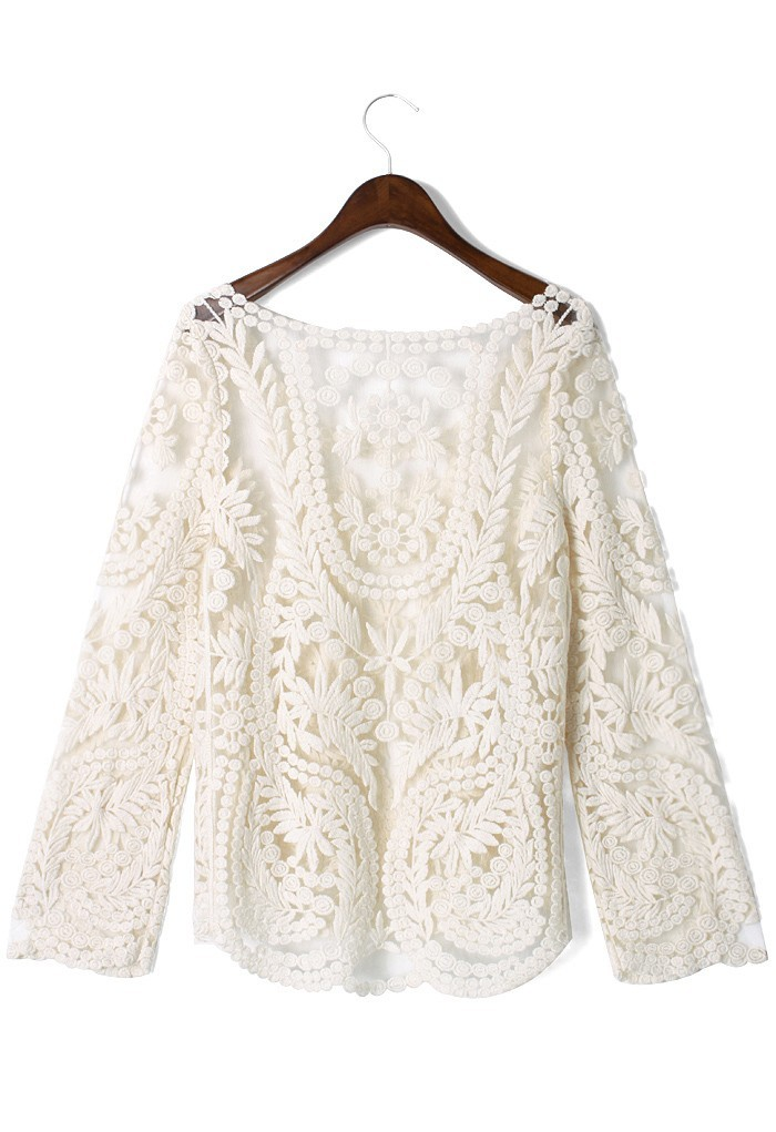Retro lace sheep top