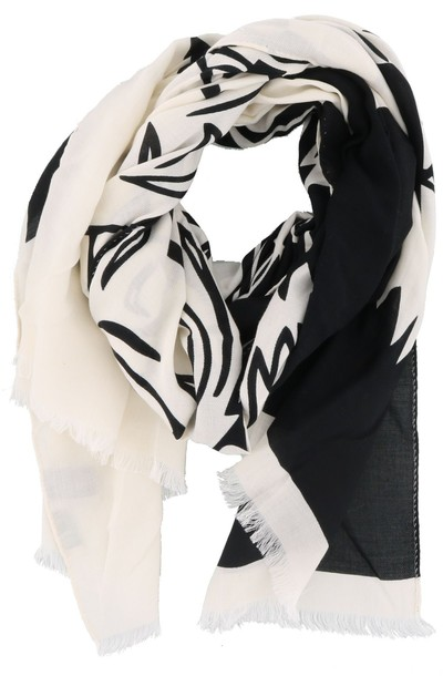 tiger scarf white