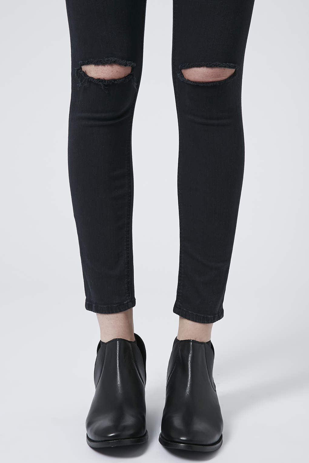 Dark Wash Ripped Jamie Jeans - Topshop
