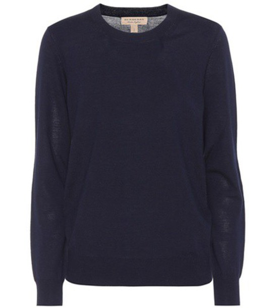 Burberry sweater wool sweater wool blue