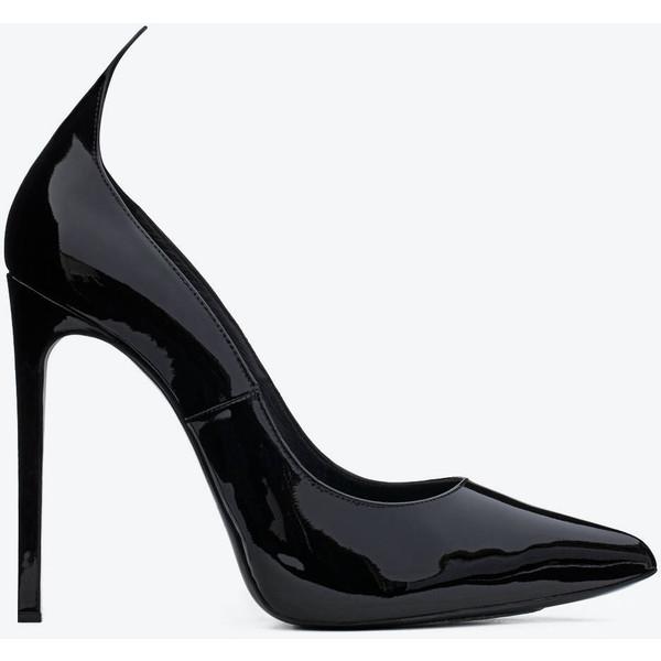 Saint laurent paris escarpin 'thorn' pump in black patent leather