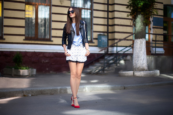 fashion agony jacket top shoes jewels sunglasses shorts