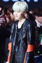 jacket,leather jacket,suga,red,black,bts,bts suga