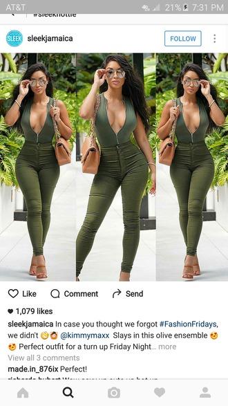 pants green olive green