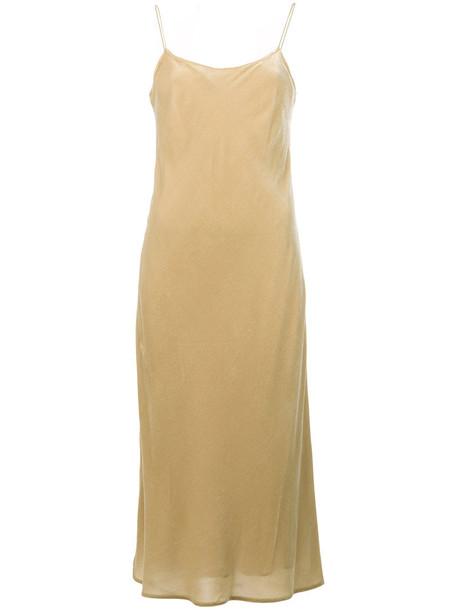 Vince dress women spaghetti strap nude silk