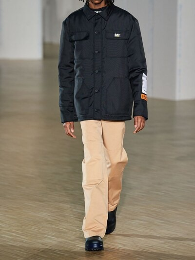 HERON PRESTON Uniform Chino Cotton Pants Caramel