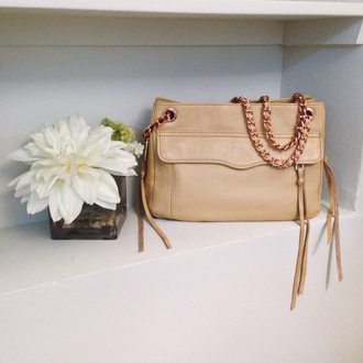 to be bright blogger beige bag leather bag