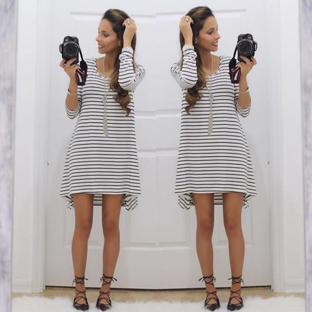 4c2ff0d0fc47 dress stripes black and white black and white striped black and white  stripes white and black