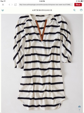 top anthropologie womens striped tunic