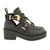 Ladies Womens Cut Out Chunky Buckle Biker Flat Low Mid Heel Ankle Boot Shoe Size | eBay