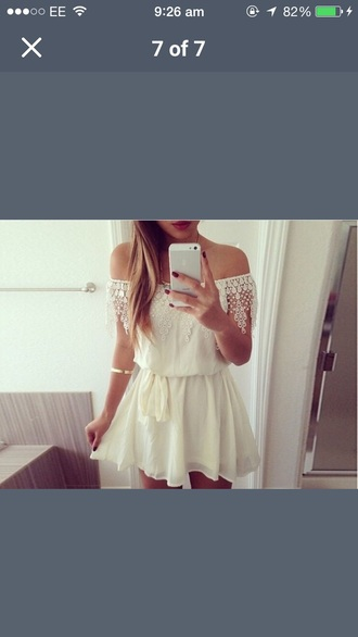 jumpsuit cream lace dress style fashion summer dress summer cute dress casual holiday dress dress