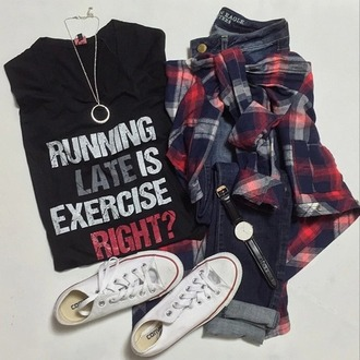 shirt sportswear top jeans flannel graphic tee converse