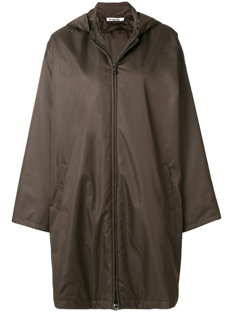 Jil Sander coat parka style women brown