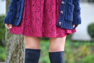dress lace lace dress burgundy dress stylish girly teenagers fashion hipster goth hipster sweater knitter sweater blue red dress