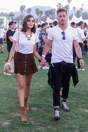 skirt,coachella,top,ankle boots,spring outfits,olivia culpo,coachella outfit