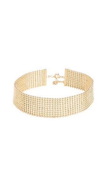 gorjana necklace choker necklace gold jewels