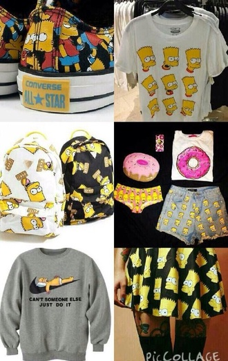 sweater shoes shirt skirt bag shorts t-shirt printed backpack