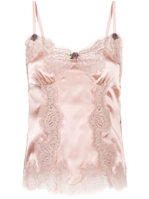 Dolce & Gabbana Lace Detail Cami - Farfetch