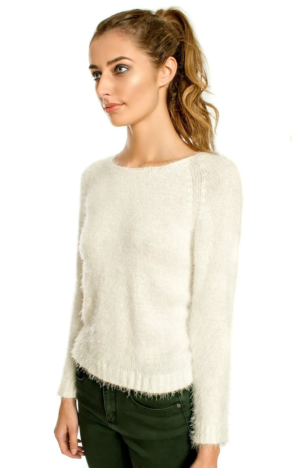 Ikrush womens new fluffy jumper at amazon women's clothing store: