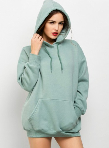 Sweater: girl, green, hoodie, oversized sweater, oversized, girly ...