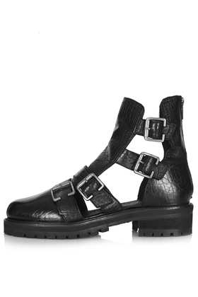 ASHLEIGH Multi Buckle Boots - Topshop