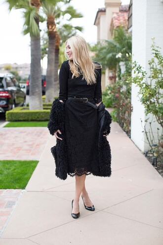 modern ensemble blogger dress jacket shoes belt