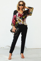 the glamourai,sunglasses,blouse,bag,shoes
