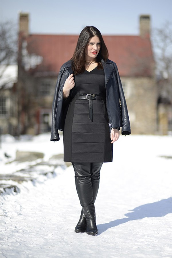 dress, leather, curvy, plus size, clementine desseaux ...
