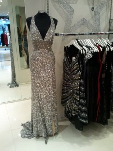 Cognito boutique silver sequin long gown