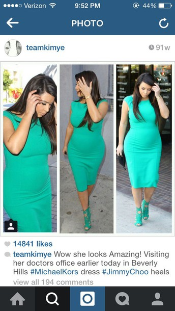 kim kardashian bodycon dress mint