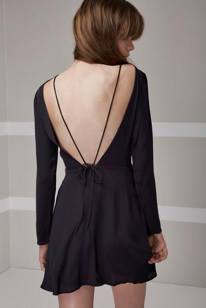 The fifth dress long sleeve dress long black