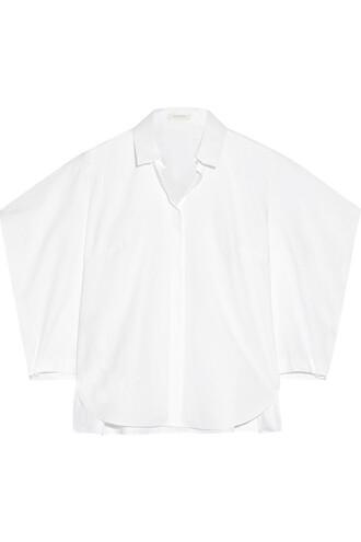 shirt cotton white top