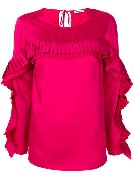 P.A.R.O.S.H. top pleated women purple pink