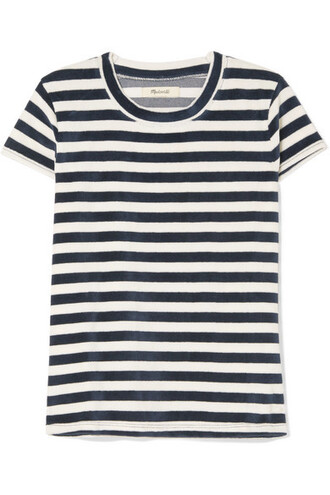 t-shirt shirt navy cotton top