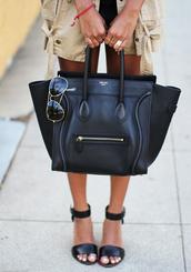 bag,celine bag,black,luggage,celebrity style,tote bag
