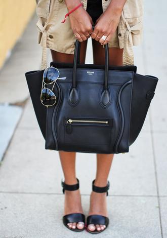 bag celine black luggage celebrity style tote bag