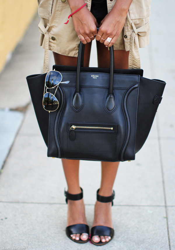 Bag: celine bag, black, luggage, celebrity style, tote bag ...