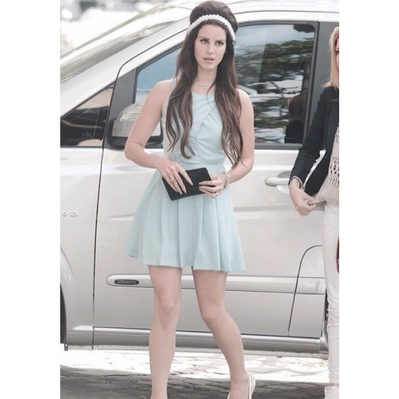 lana del rey dress mint dress