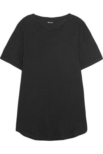 Madewell t-shirt shirt t-shirt cotton black top