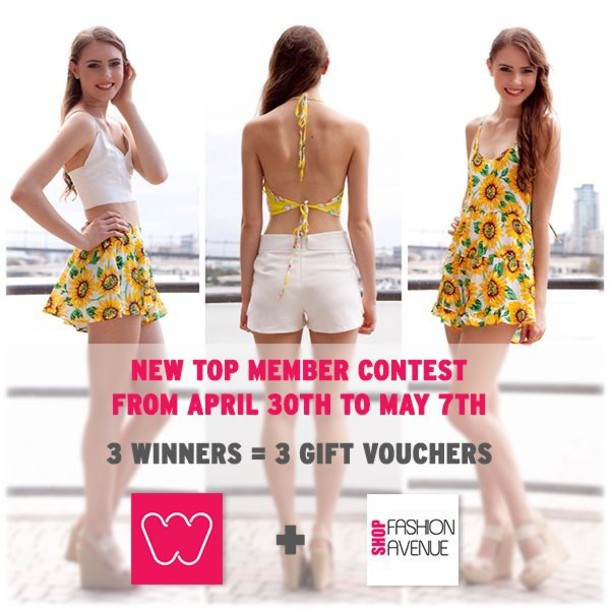 4dcc4ddb9ade romper triangle shorts flowy sunflower top white dress skorts bralette  shopfashionavenue
