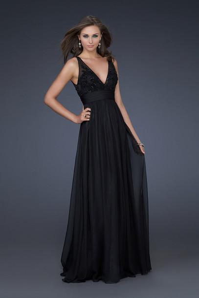 dress long prom dress clothes blackdress lace