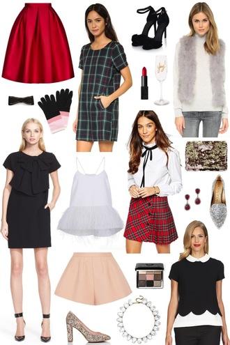 sequins and stripes blogger skirt dress shoes jacket gloves make-up tank top top bag jewels shorts