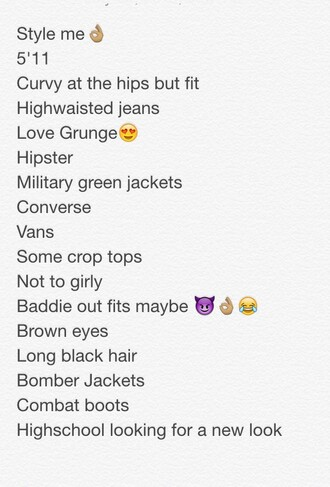 make-up style style me grunge hipster baddies high waisted curvy high waisted jeans grunge wishlist hipster wishlist military style green jacket converse vans crop tops baddiekouture_ bomber jacket combat boots back to school american apparel
