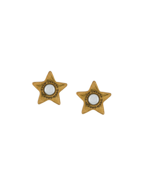 Marc Jacobs women pearl earrings stud earrings grey metallic jewels